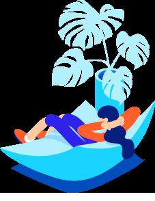 Человек под пальмой